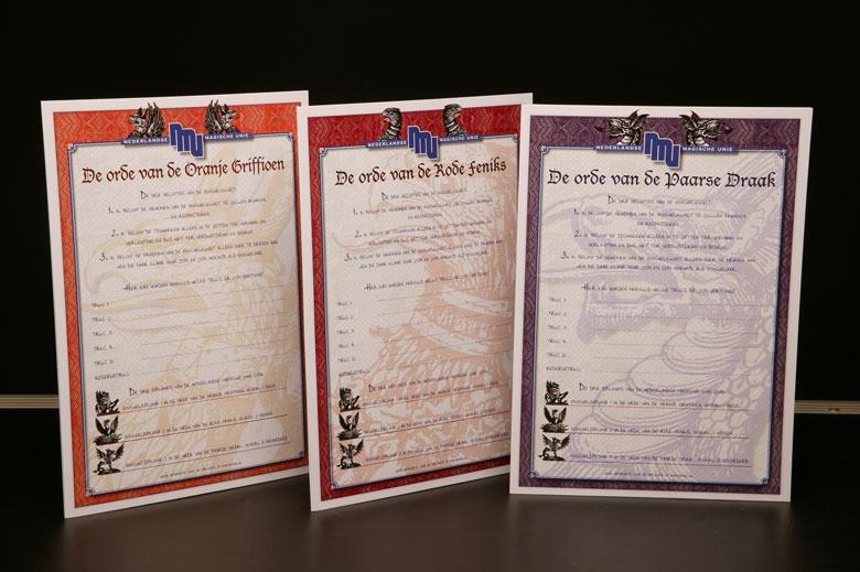 Achterkant Diplomas